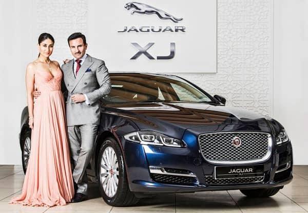 Stunning! Kareena Kapoor and Saif Ali Khan endorsing the New Jaguar XJ with style!  -twitter