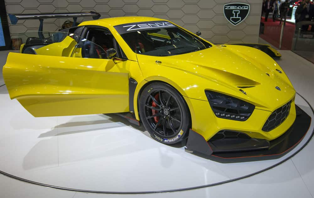 The new Zenvo TSR is presented during the second press day at the 86th International Motor Show in Geneva, Switzerland.