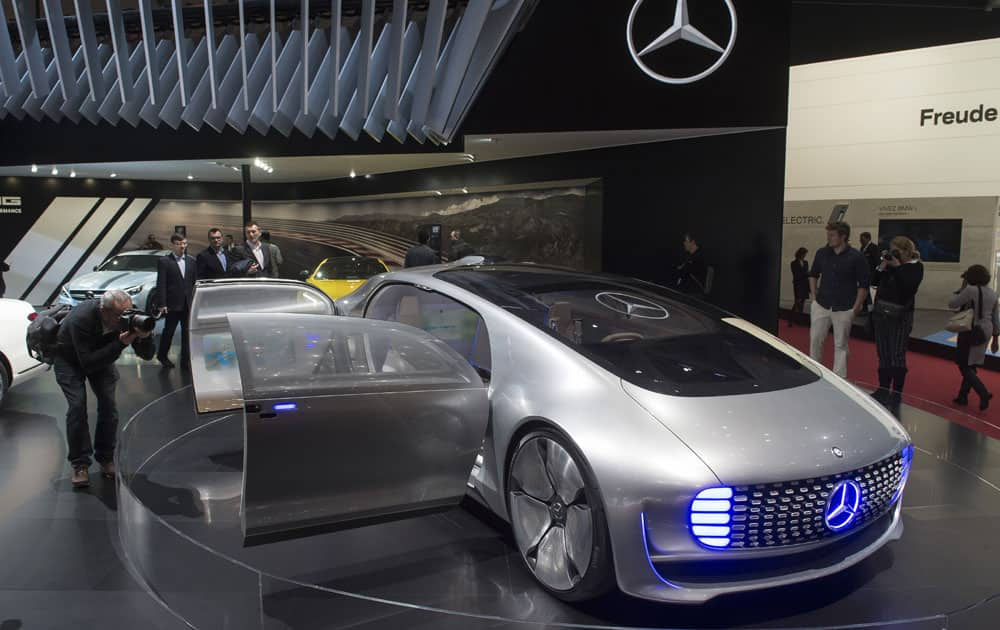 The Mercedes Concept Car Is Shown During Press Day At 86th International Motor Show