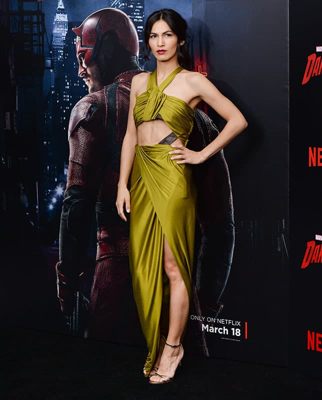 Actress Elodie Yung attends the premiere of Netflix's Original Series Marvel's 'Daredevil' Season 2 at AMC Lincoln Square, in New York.