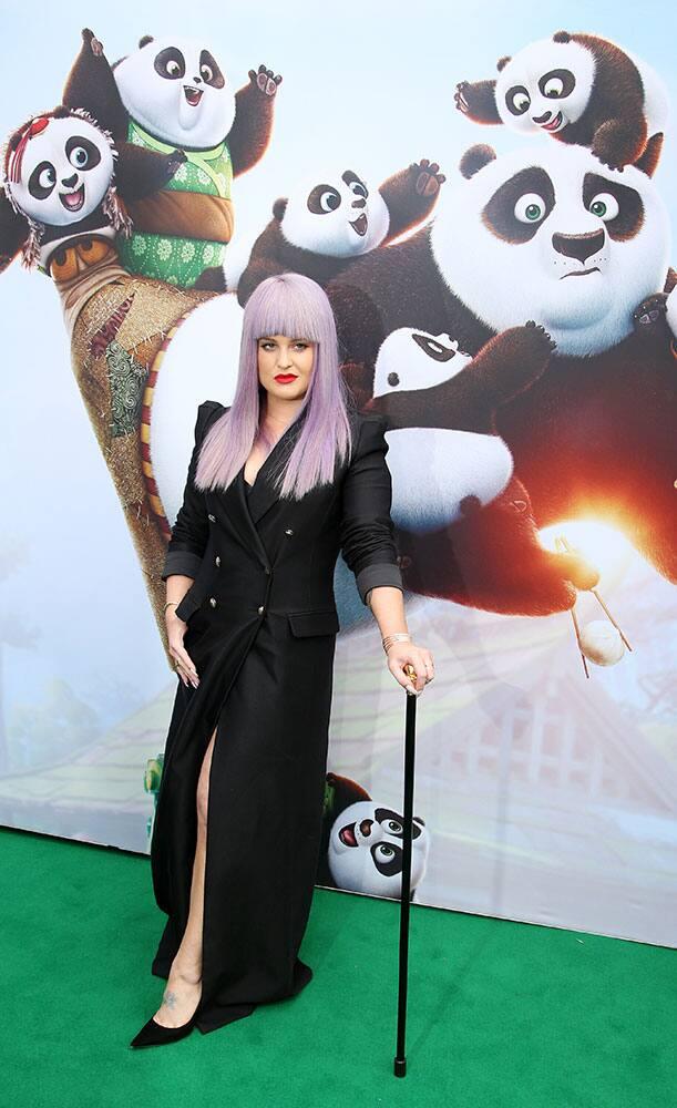 British celebrity Kelly Osbourne arrives for the Australian premiere the movie Kung Fu Panda 3 in Sydney.