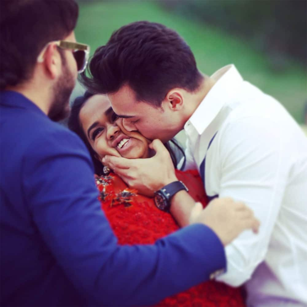 Arpita Khan Sharma :- Missing the only person that troubles me so fondly @aaysharma can't wait for u to come back -twitter