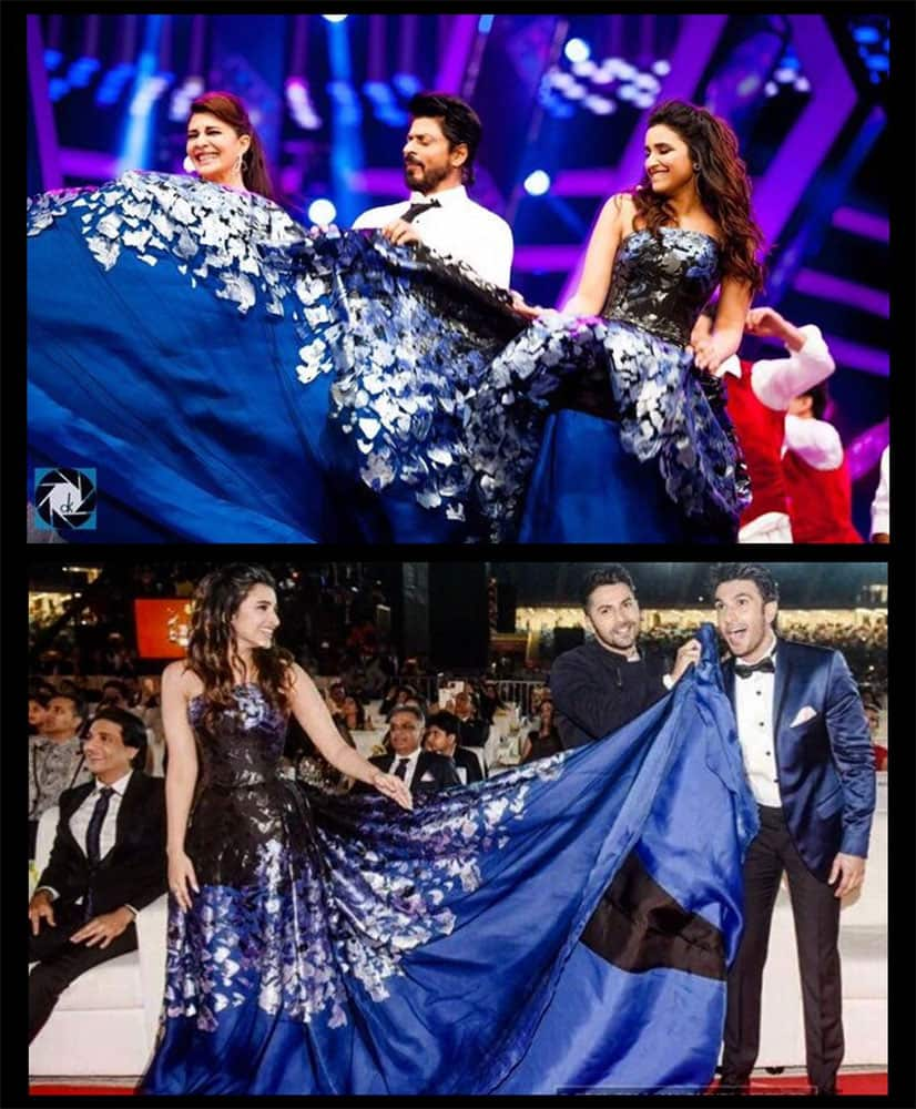Parineeti Chopra:- Jabra fans of my dress hahaha @iamsrk @RanveerOfficial @Varun_dvn @Asli_Jacqueline  -twitter