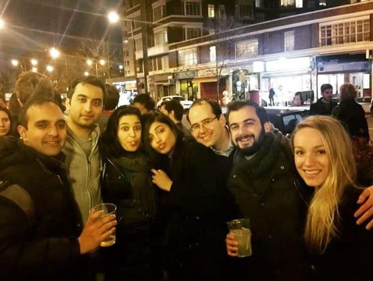 shruti haasan :- Londoning with the lovely lbs peeps utkarshsain natashaabhalla karthiks25 -instagram