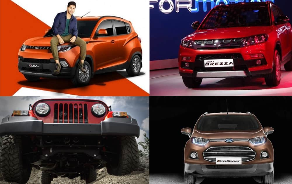 The auto market in India is flooded with sedans, hatchbacks and SUVs. Let's have a look at five SUVs in India below Rs 10 lakh.