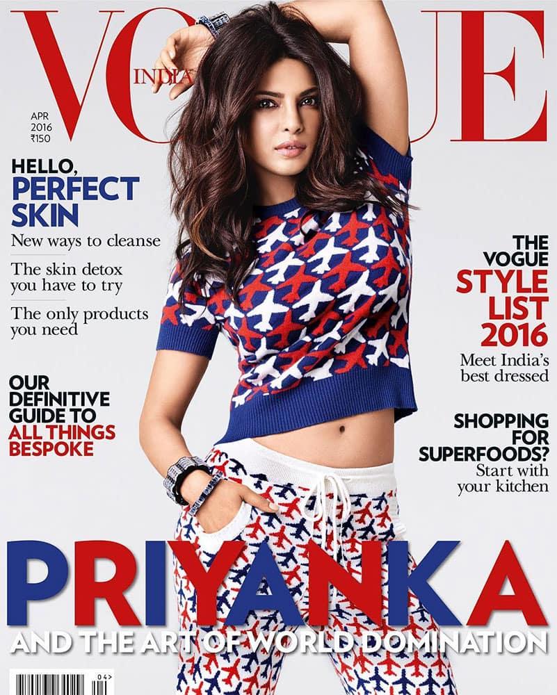 PRIYANKA chopra :- More than 'art', I think it's just the start #worlddomination Hahahaha... Thank you @VogueIndia… -instagram