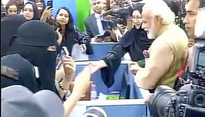 WATCH: 'Modi, Modi, Modi', 'Bharat Mata ki jai' slogans chanted as PM visits all women TCS centre in Riyadh