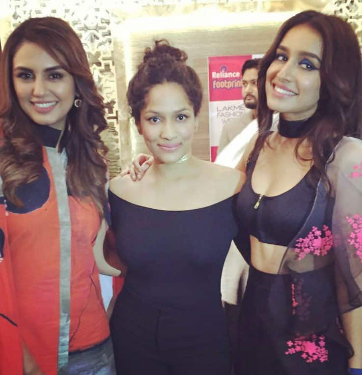 Huma Qureshi :- With so much talent and gorg in one photu ;-) @MasabaG @ShraddhaKapoor  -twitter