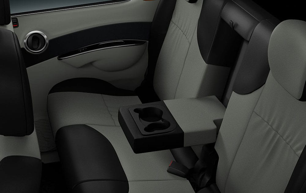 Mahindra NuvoSport Back Seat Inside View