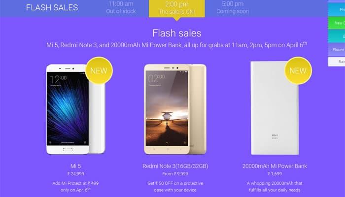 Xiaomi Mi Festival: Second flash sales of Mi 5, Redmi Note 3, Mi
