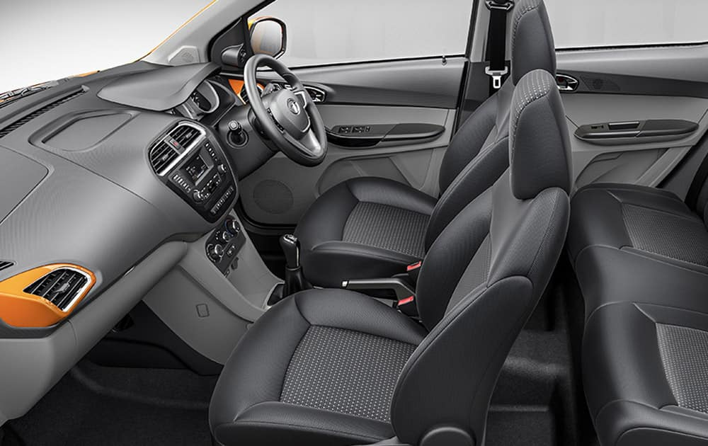 scooped out front seat backs for more leg room. (Pic courtesy: http://madeofgreat.tatamotors.com/tiago/)
