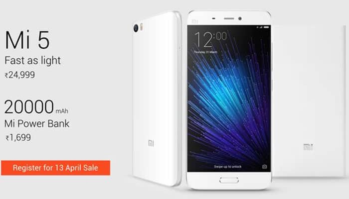 Xiaomi Mi 5 smartphone to go on sale again in India on April 13