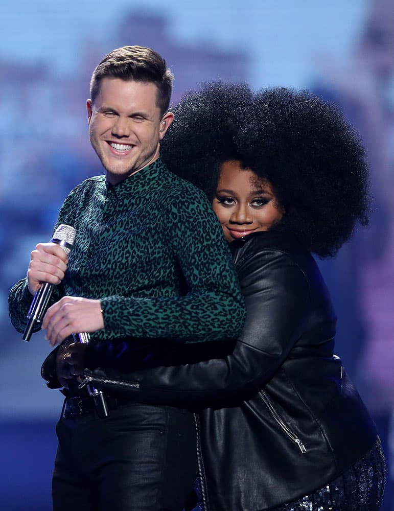 Trent Harmon, left, and La'Porsha Renae appear at the