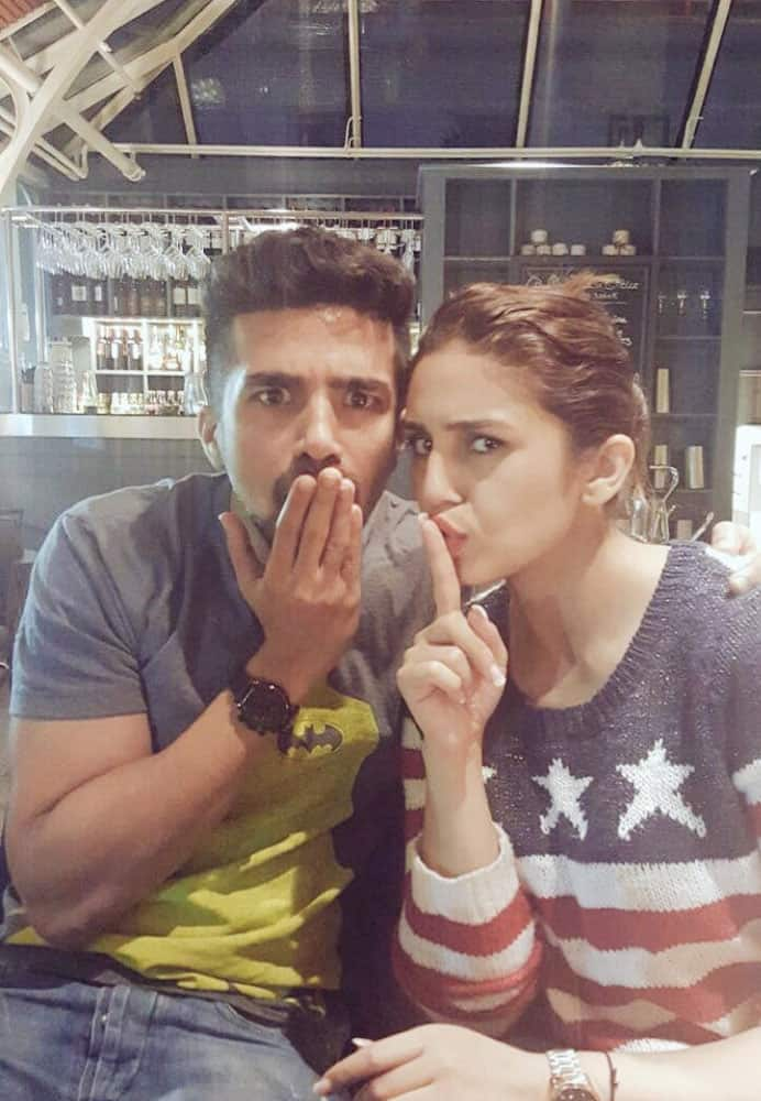 Huma Qureshi :- Happy Sibling day @Saqibsaleem Proud to be his partner in crime and co-actor in #Dobaara releasing Sept 2016 -twitter