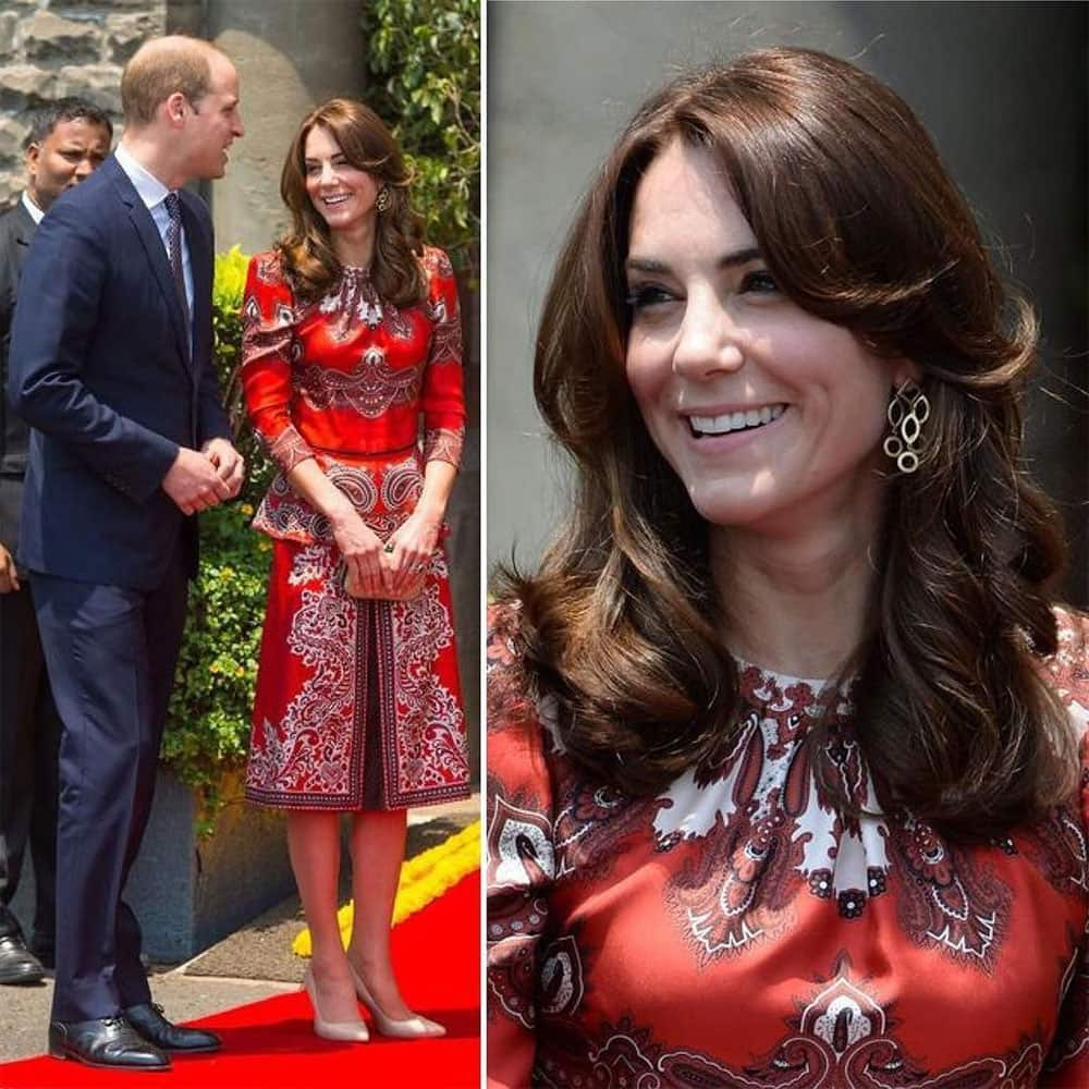 ELLE India:- And the royal visit kicks off, with #KateMiddleton wearing a paisley print dress by @World… -twitter