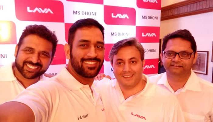 Mobile handset maker Lava signs MS Dhoni as brand ambassador