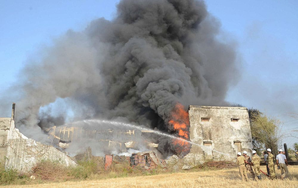 A massive fire broke out in a incense stick factory at Lambakedha near Bhopal.