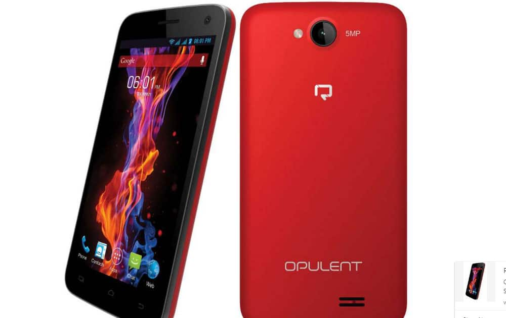 Reach Opulent with 5 inch display, 1GB RAM launched at Rs 3,599