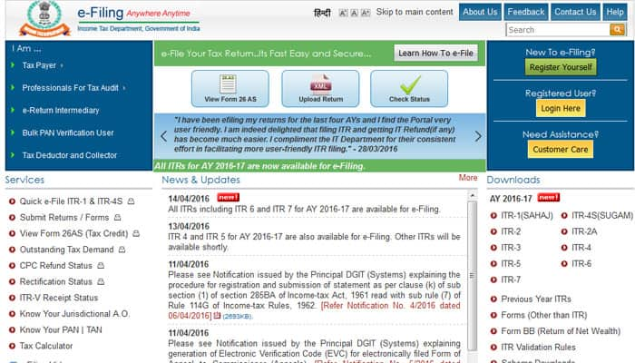 All ITRs activated for e-filing: IT Dept