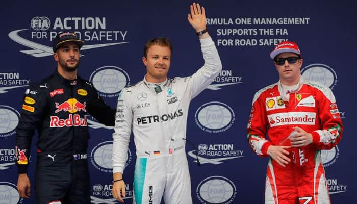 Chinese Grand Prix: Nico Rosberg on pole, Lewis Hamilton at the back