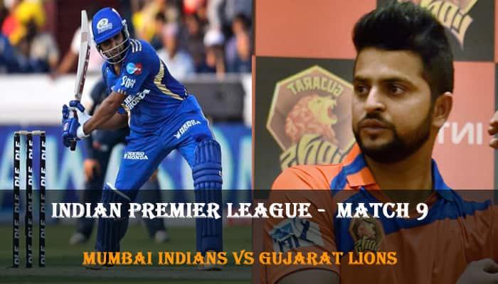 Indian Premier League, Match 9: Mumbai Indians vs Gujarat Lions – As it happened...