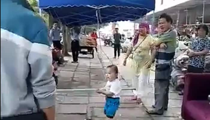 Commendable act! Here's how a toddler defends his 'girl', video goes viral