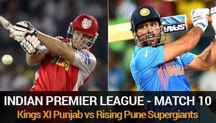 IPL 2016, Match 10: Kings XI Punjab vs Rising Pune Supergiants – As it happened...