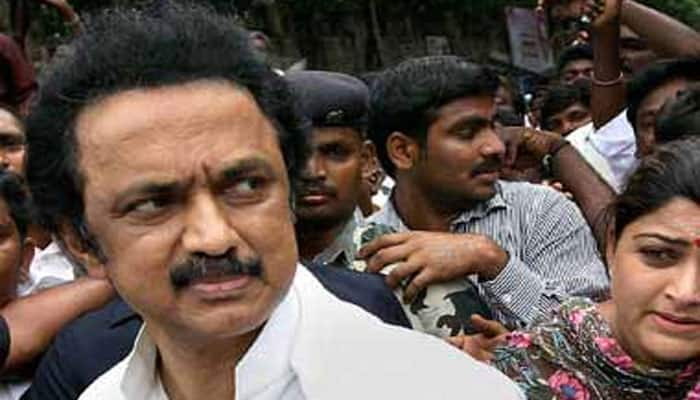 Tamil Nadu polls: Stalin guides hearse out of his crowded rally