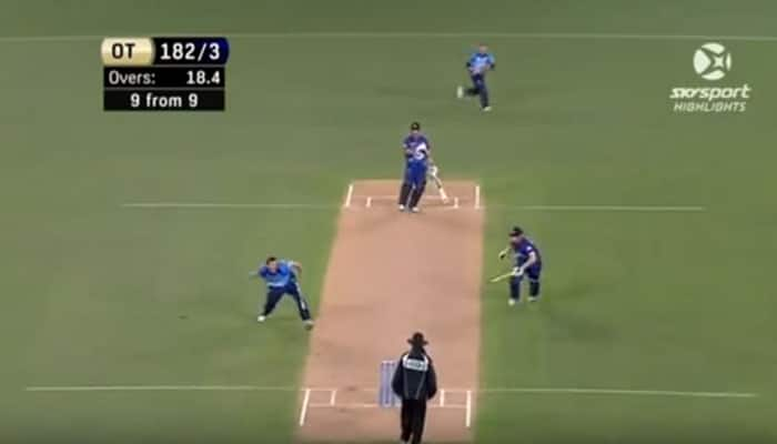 WATCH: Unbelievable cricket moment - Two batsmen out off same ball!