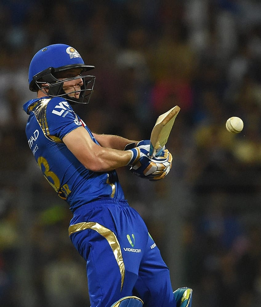 Mumbai Indians player Joe Buttler in action during the IPL match against Royal Challengers Bangalore in Mumbai.
