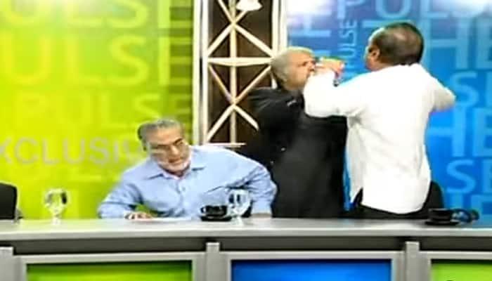 OMG! Fierce fight breaks out during live TV news debate show in Pakistan - WATCH