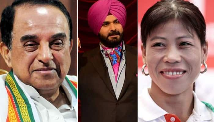 It's official! Subramanian Swamy, Navjot Singh Sidhu, Mary Kom, 3 others nominated to Rajya Sabha