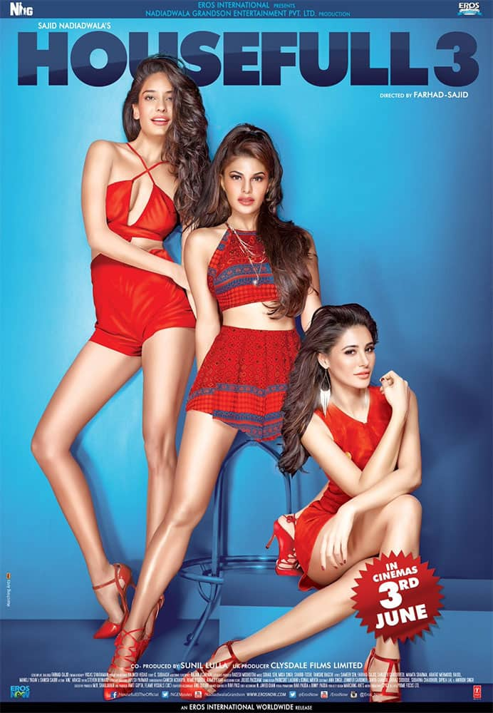 Eros Now :- Hot girls are in the house! Checkout the #Housefull3Poster -twitter