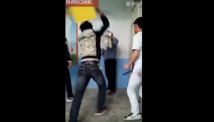 SHOCKING! Fistfight between school students and their teacher in class – Watch this viral video