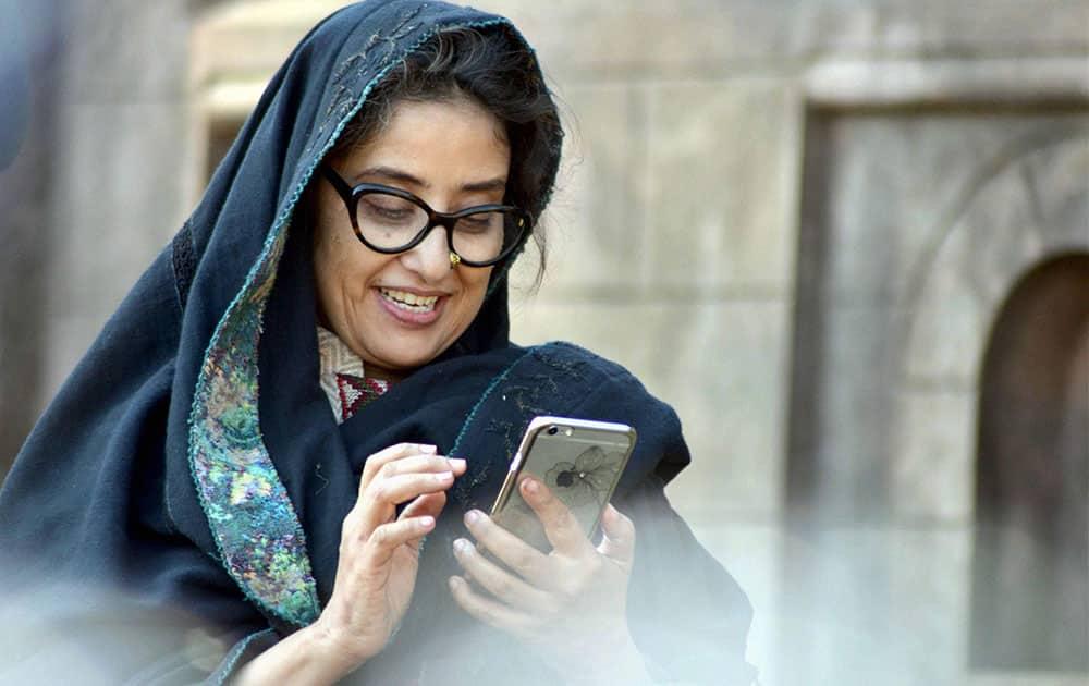 "Bollywood Actress Manisha Koirala during the shoot of her upcoming Movie "" Dear Maya"" in Shimla."