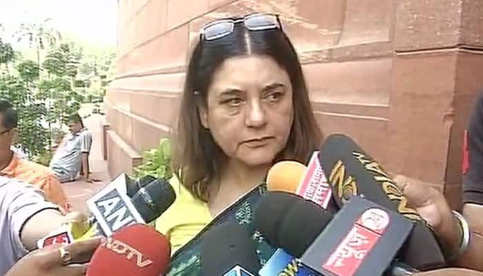 Panic button in mobile phones will be a game changer on women's security: Maneka Gandhi