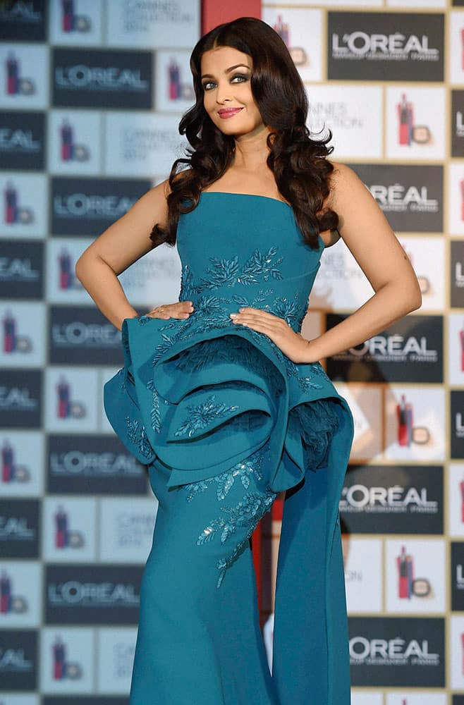 Actress Aishwarya Rai Bachchan at the launch of LOREAL Cannes Collection in Mumbai.