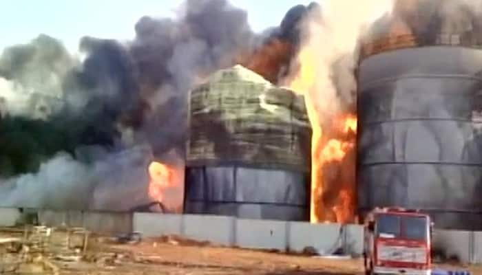 Massive fire at bio-diesel factory in Visakhapatnam, 40 fire tenders at spot