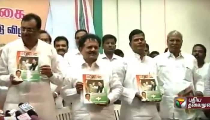 Tamil Nadu Assembly elections 2016: Congress releases manifesto, promises ban on 'Jallikattu'