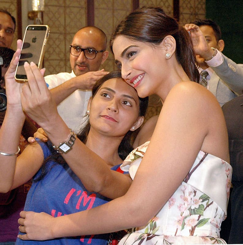 Bollywood actor Sonam Kapoor at a launch event in Mumbai.
