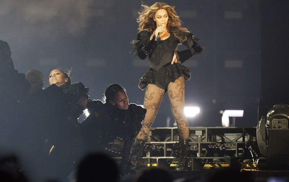 Beyonce performs during the Formation Tour at the Georgia Dome in Atlanta.
