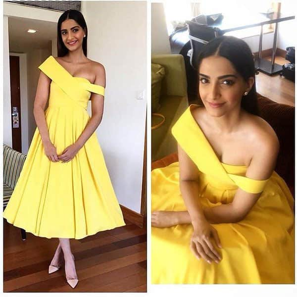 #SonamKapoor is bright as a summer day in @official_rutuneeva ☀( @artinayar) http://ift.tt/1O9LkoP - Twitter@ELLEINDIA