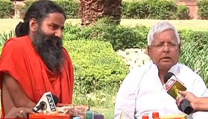 Baba Ramdev's 'new fan' Lalu Yadav says he is 'permanent brand ambassador' of Patanjali products