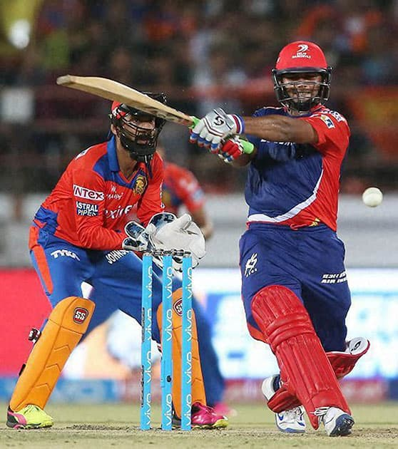 Rishabh Pant of Delhi Daredevils plays a shot during IPL 2016 match against Gujarat Lions.