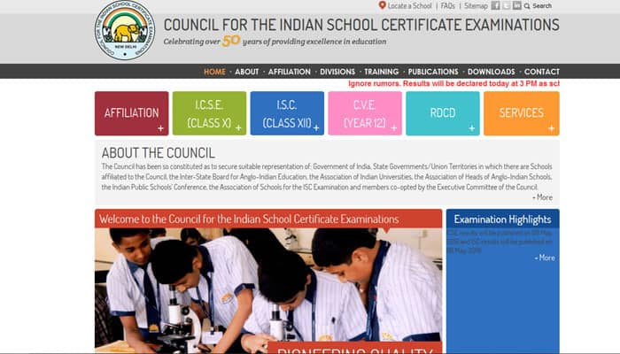 Cisce.org ICSE Results 2016: CISCE ICSE Class 10th X Result 2016 to be announced 'in an hour'
