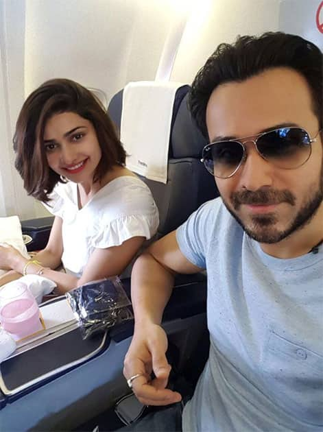 Enroute Dubai .. See you on the other side :)  #Azhar- twitter@ItsPrachiDesai