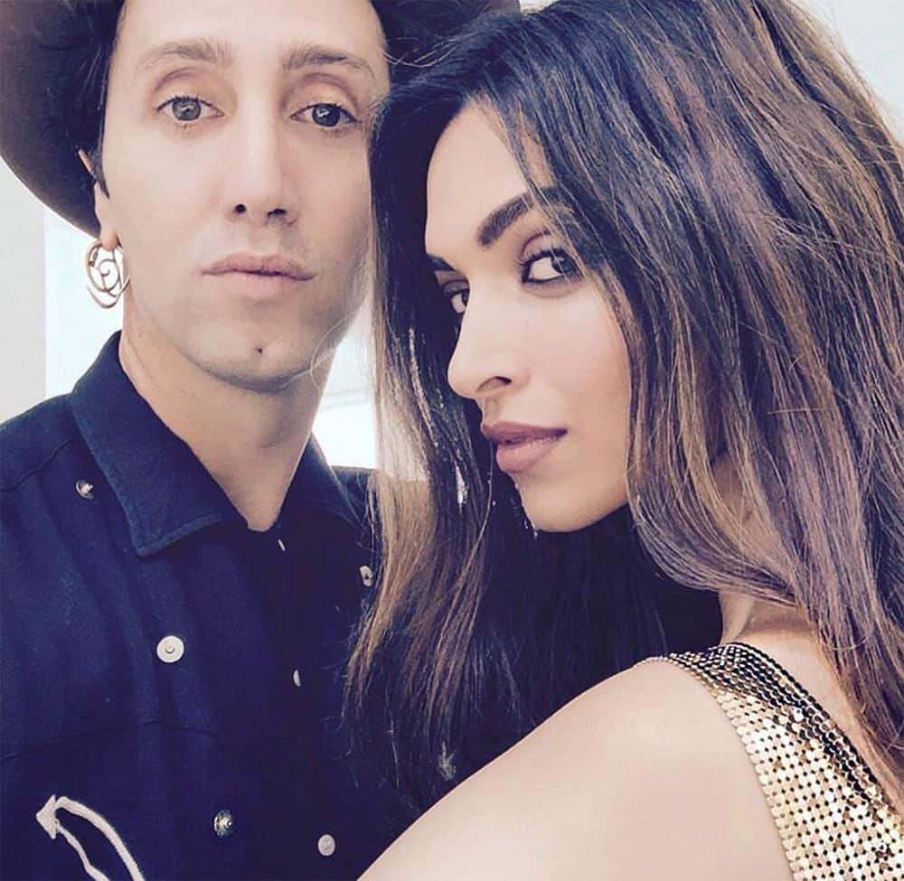 Wow! The gorgeous Deepika Padukone with hairstylist, Adir Abergel.❤ We can't wait to see this photoshoot! -twitter@DeepikaPFC