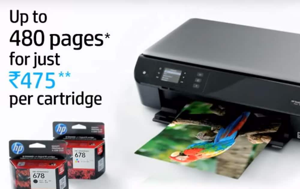 Hewlett Packard India's ad for its printers claiming