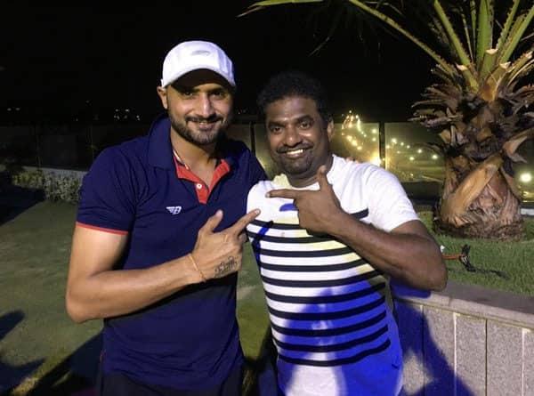 Lovely 2 catch up wid my frnd Murli.master of offspin bowling nd super human being @bhajjisports new T @SunRisers- twitter@harbhajan_singh