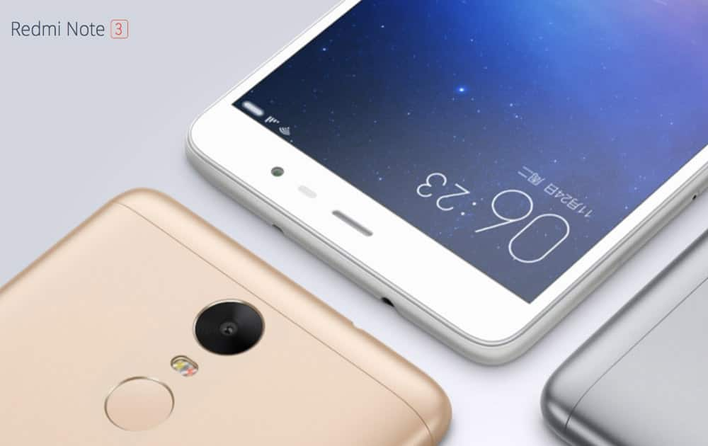 Xiaomi RedMi Note 3, 2GB + 16GB with 5.5 inch display. Battery: 4000 mAh. Camera: 16 MP, Hexa core. Priced at Rs 9999.